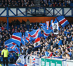 Rangers fans at Ibrox..
