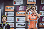 Anna Van Der Breggen (NED) Boels Dolmans Cycling Team wins the 2018 Liege-Bastogne-Liege Femmes running 136km from Bastogne to Ans, Belgium. 22nd April 2018.<br /> Picture: ASO/Thomas Maheux | Cyclefile<br /> All photos usage must carry mandatory copyright credit (&copy; Cyclefile | ASO/Thomas Maheux)