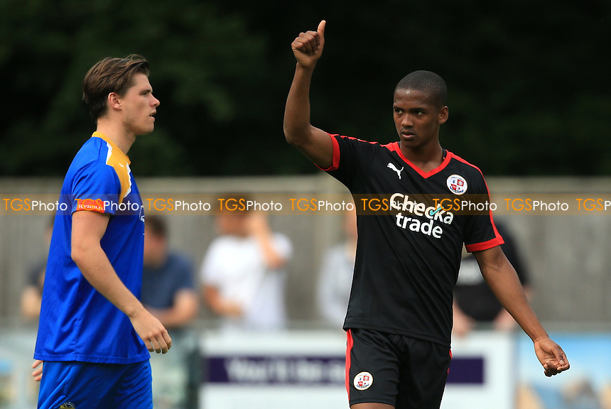 Lewis Young of Crawley Town during East Grinstead vs Crawley Town, Friendly Match Football at East Court on 9th July 2016