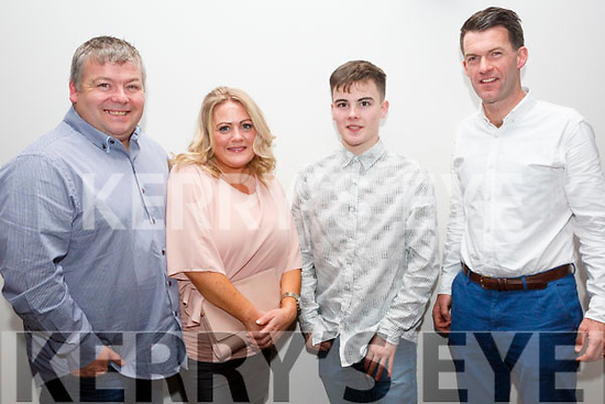 Gavin Walsh, Roda Walsh, Curtis Walsh and Brian Scally at the IMRO Christie Hennessy Song Competition Live Final at the Ashe Hotel on Saturday