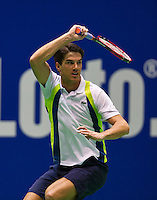 December 189 2014, Rotterdam, Topsport Centrum, Lotto NK Tennis, Jesse Huta Galung (NED)<br /> Photo: Tennisimages/Henk Koster