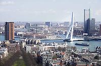 Nederland Rotterdam  26 maart 2018.  De Erasmusbrug over de Maas.  Foto Berlinda van dam / Hollandse Hoogte