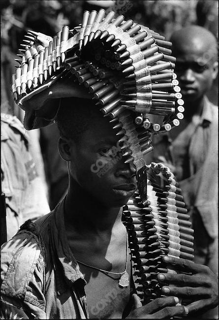 Ibo soldier, civil war, Biafra, Nigeria, November 1967