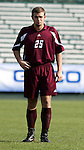 Boston College's Sam Brill on Tuesday, November 8th, 2005 at SAS Stadium in Cary, North Carolina. The Wake Forest Demon Deacons defeated the Boston College Eagles 4-0 during their Atlantic Coast Conference Tournament Play-In game.