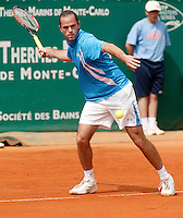 17-4-06, Monaco, Tennis,Master Series, Xavier Malisse in action against Nalbandian
