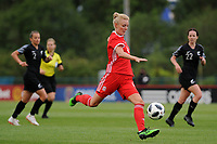 Sophie Ingle of Wales Women's' in action during the Women's International Friendly match between Wales and New Zealand at the Cardiff International Sports Stadium in Cardiff, Wales, UK. Tuesday 04 June, 2019