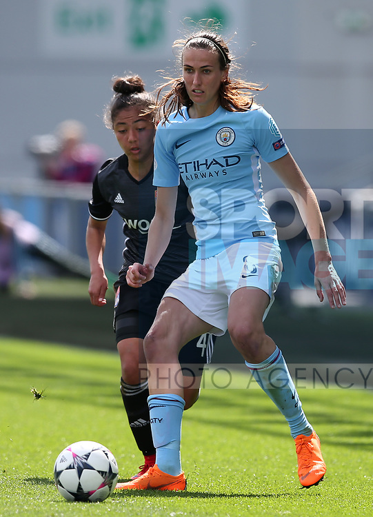 Jill Scott of Manchester City during the Women's Champions League, Semi Final 1st leg match at the Academy Stadium, Manchester. Picture date 22nd April 2018. Picture credit should read: Simon Bellis/Sportimage