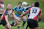 Nigel Watson passes to Male Sa'u. Air New Zealand Cup pre-season rugby game between the Counties Manukau Steelers & Northland, played at Growers Stadium on July 21st, 2007. Counties Manukau won 28 - 17.