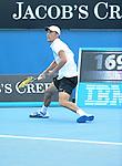 Jerzy Janowicz (POL) loses at Australian Open in Melbourne Australia on 17th January 2013