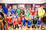 Iveragh United U12's & U13 sides at the clubs medal on shields presentation on Saturday evening in the Function room of Anchor Bar, Cahersiveen with trainers Ronan McCarthy, Sean Coffey & Cathal O'Shea.