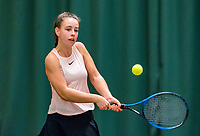 Wateringen, The Netherlands, March 16, 2018,  De Rhijenhof , NOJK 14/18 years, Nat. Junior Tennis Champ. Laur&egrave;l Polman (NED)<br /> Photo: www.tennisimages.com/Henk Koster