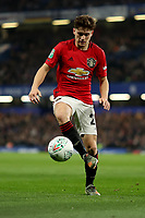 30th October 2019; Stamford Bridge, London, England; English Football League Cup, Carabao Cup, Chelsea Football Club versus Manchester United; Daniel James of Manchester Utd - Strictly Editorial Use Only. No use with unauthorized audio, video, data, fixture lists, club/league logos or 'live' services. Online in-match use limited to 120 images, no video emulation. No use in betting, games or single club/league/player publications