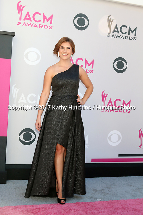 LAS VEGAS - APR 2:  Sophie Schillaci at the Academy of Country Music Awards 2017 at T-Mobile Arena on April 2, 2017 in Las Vegas, NV