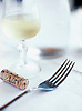 Fork & Glass of White Wine with Cork from Bottle