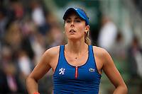 Alize Cornet of France in action at Roland Garros