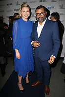 BEVERLY HILLS, CA - FEBRUARY 1: Greta Gerwig and Jordan Peele at the 2018 Writers Guild Awards Beyond Words spotlighting outstanding screenwriting at the Writers Guild Theater in Beverly Hills, California on February 1, 2018.   <br /> CAP/MPI/FS<br /> &copy;FS/MPI/Capital Pictures