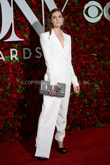 www.acepixs.com<br /> June 12, 2016  New York City<br /> <br /> Allison Williams attending the 70th Annual Tony Awards at The Beacon Theatre on June 12, 2016 in New York City.<br /> <br /> Credit: Kristin Callahan/ACE Pictures<br /> <br /> <br /> Tel: 646 769 0430<br /> Email: info@acepixs.com