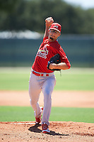 GCL Cardinals starting pitcher Zac Gallen (53) during the second game of a doubleheader against the GCL Marlins on August 13, 2016 at Roger Dean Complex in Jupiter, Florida.  GCL Cardinals defeated GCL Marlins 2-0.  (Mike Janes/Four Seam Images)
