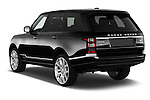 Car pictures of rear three quarter view of a 2015 Land Rover RANGE ROVER Vogue 5 Door SUV Angular Rear