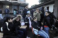 Roma, 27 Marzo 2009.Via Prenestina. <br /> Metropoliz. Senza casa occupano i capannoni abbandonati della ex fabbrica di salumi Fiorucci..Rome, 27 March 2009.Via Prenestina. Homeless occupy the abandoned warehouses of the former sausage factory Fiorucci