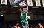 S&ouml;dert&auml;lje 2014-04-26 Basket SM-final S&ouml;dert&auml;lje Kings - Norrk&ouml;ping Dolphins :  <br /> S&ouml;dert&auml;lje Kings Mantas Griskenas g&ouml;r en dunk och po&auml;ng i matchen<br /> (Foto: Kenta J&ouml;nsson) Nyckelord:  S&ouml;dert&auml;lje Kings SBBK Norrk&ouml;ping Dolphins SM-final Final T&auml;ljehallen