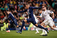 26th November 2019; Estadio Santiago Bernabeu, Madrid, Spain; UEFA Champions League Football, Real Madrid versus Paris Saint Germain; Kylian Mbappe (PSG)  in action during the match  - Editorial Use