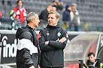 06.10.2019, Commerzbankarena, Frankfurt, GER, 1. FBL, Eintracht Frankfurt vs. SV Werder Bremen, <br /> <br /> DFL REGULATIONS PROHIBIT ANY USE OF PHOTOGRAPHS AS IMAGE SEQUENCES AND/OR QUASI-VIDEO.<br /> <br /> im Bild: Adi Hütter / Huetter / Hutter (Trainer Eintracht Frankfurt) und Florian Kohlfeldt (Trainer, SV Werder Bremen)<br /> <br /> Foto © nordphoto / Fabisch