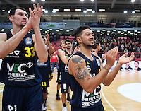 Basketball  1. Bundesliga  2016/2017  Hauptrunde  14. Spieltag  16.12.2016 Walter Tigers Tuebingen - Alba Berlin SCHLUSSJUBEL Alba; Peyton Siva (re) und Tony Gaffney