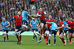 Stuart Hogg of Scotland misses out on a high ball with Tommaso Allan of Italy - RBS 6Nations 2015 - Scotland  vs Italy - BT Murrayfield Stadium - Edinburgh - Scotland - 28th February 2015 - Picture Simon Bellis/Sportimage