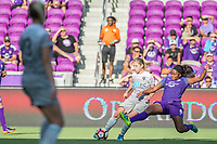 Orlando, FL - Sunday May 14, 2017: Jamia Fields during a regular season National Women's Soccer League (NWSL) match between the Orlando Pride and the North Carolina Courage at Orlando City Stadium.