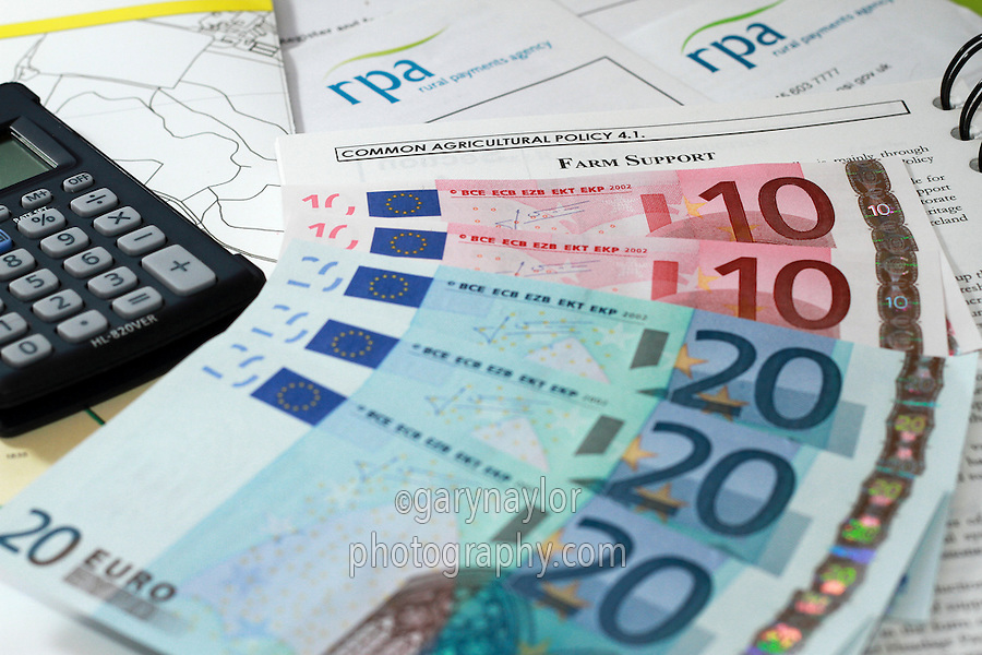 CAP policy information with RPA documenst and Euro cash