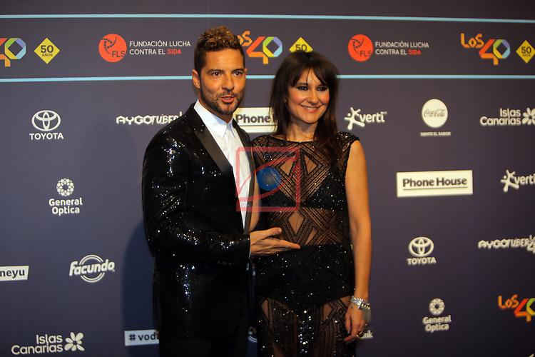 Los 40 MUSIC Awards 2016 - Photocall.<br /> David Bisbal &amp; Eva Amaral.
