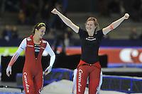 SCHAATSEN: HEERENVEEN: 26-12-2013, IJsstadion Thialf, KNSB Kwalificatie Toernooi (KKT), 1000m, Marrit Leenstra, Lotte van Beek, ©foto Martin de Jong