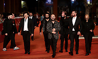 Il gruppo musicale Negramaro arriva sul red carpet di presentazione del film 'Negramaro. L'anima vista da qui' alla 14^ Festa del Cinema di Roma all'Aufditorium Parco della Musica di Roma, 25 ottobre 2019. <br /> Italian band Negramaro arrives on the red carpet to present the movie 'Negramaro. L'anima vista da qui' during the 14^ Rome Film Fest at Rome's Auditorium, on 25 October 2019.<br /> UPDATE IMAGES PRESS/Isabella Bonotto