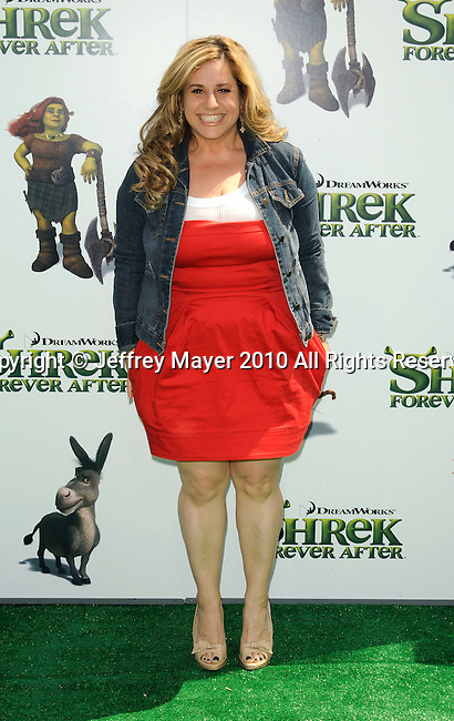 """UNIVERSAL CITY, CA. - May 16: Marissa Jaret Winokur arrives at the """"Shrek Forever After"""" Los Angeles Premiere at Gibson Amphitheatre on May 16, 2010 in Universal City, California."""