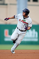 Fort Myers Miracle outfielder Oswaldo Arcia #21 during a game against the Palm Beach Cardinals at Roger Dean Stadium on May 1, 2012 in Jupiter, Florida.  Palm Beach defeated Fort Myers 9-3.  (Mike Janes/Four Seam Images)