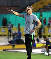 NEIVA-COLOMBIA, 10-02-2019: Pablo Autuori, técnico de Atlético Nacional, durante partido entre Atlético Huila y Atlético Nacional, de la fecha 4 por la Liga Aguila, I 2019 en el estadio Guillermo Plazas Alcid de Neiva. / Pablo Autuori, coach of Atletico Nacional, during a match between Atletico Huila and Atletico Nacional of the 4th date for the Liga Aguila I 2019 at the Guillermo Plazas Alcid Stadium in Neiva city. Photo: VizzorImage  / Sergio Reyes / Cont.