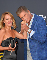 LOS ANGELES, CA - July 14, 2018: David Hasselhoff & Hayley Roberts at the Comedy Central Roast of Bruce Willis at the Hollywood Palladium<br /> Picture: Paul Smith/Featureflash.com