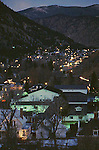 MOUNTAIN TOWN IN COLORADO SITS IN VALLEY