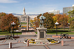 Denver City and County Courthouse, World War II Memorial and Civil War Statue, Denver, Colorado. .  John offers private photo tours in Denver, Boulder and throughout Colorado. Year-round Colorado photo tours.