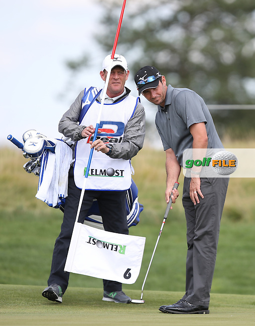 Peter Whiteford (SCO) has a new caddie, Neil Easton (previously with Chris Doak (SCO)), pictured during the Pro-Am of the D&D Real Czech Masters 2014 from the Albatross Golf Resort, Vysoky Ujezd, Prague. Picture:  David Lloyd / www.golffile.ie