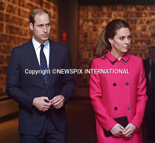 08.12.2014( No UK Sales for 28 Days); New York, USA: KATE MIDDLETON AND PRINCE WILLIAM<br /> tour the museum, view one of the Memorial Reflection Pools and pause for reflection in the Memorial Plaza during their visit to visit the National September 11 Memorial Museum.<br /> Mandatory Photo Credit: &copy;NEWSPIX INTERNATIONAL<br /> <br /> **ALL FEES PAYABLE TO: &quot;NEWSPIX INTERNATIONAL&quot;**<br /> <br /> PHOTO CREDIT MANDATORY!!: NEWSPIX INTERNATIONAL(Failure to credit will incur a surcharge of 100% of reproduction fees)<br /> <br /> IMMEDIATE CONFIRMATION OF USAGE REQUIRED:<br /> Newspix International, 31 Chinnery Hill, Bishop's Stortford, ENGLAND CM23 3PS<br /> Tel:+441279 324672  ; Fax: +441279656877<br /> Mobile:  0777568 1153<br /> e-mail: info@newspixinternational.co.uk