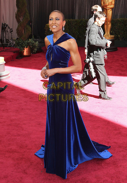Robin Roberts.85th Annual Academy Awards held at the Dolby Theatre at Hollywood & Highland Center, Hollywood, California, USA..February 24th, 2013.oscars full length dress blue.CAP/ADM/SLP/COL.©Colin/StarlitePics/AdMedia/Capital Pictures