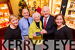 Bridie O'Shea, Oakpark, Tralee winner of the Kerry's Eye, Billy Nolan competition for €3,000 worth of Jewellery from left: Louise Nolan, Brendan Kennelly, Kerry's Eye, Bridie O'Shea, Billy and Ciara Nolan Hilsers Jewellers.