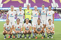 Orlando, FL - Saturday July 15, 2017: FC Kansas City Team starting eleven a regular season National Women's Soccer League (NWSL) match between the Orlando Pride and FC Kansas City at Orlando City Stadium.