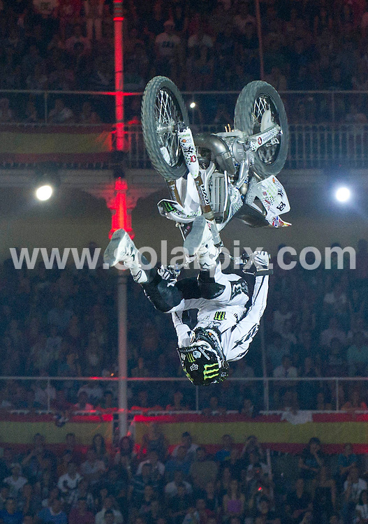 **ALL ROUND PICTURES FROM SOLARPIX.COM**                                             **WORLDWIDE SYNDICATION RIGHTS EXCEPT SPAIN - NO SYNDICATION IN SPAIN**                                                                                  Caption: Red Bull X Fighter 2011 at the Plaza de las Ventas, Madrid, Spain. 15 July 2011.This pic: Andre Villa                                                                 JOB REF: 13726 DMS Drake      DATE: 15_07_2011                                                           **MUST CREDIT SOLARPIX.COM OR DOUBLE FEE WILL BE CHARGED**                                                                      **MUST AGREE FEE BEFORE ONLINE USAGE**                               **CALL US ON: +34 952 811 768 or LOW RATE FROM UK 0844 617 7637**