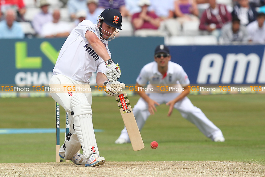 Hamish Rutherford hits four runs for Essex - Essex CCC vs England - LV Challenge Match at the Essex County Ground, Chelmsford - 01/07/13 - MANDATORY CREDIT: Gavin Ellis/TGSPHOTO - Self billing applies where appropriate - 0845 094 6026 - contact@tgsphoto.co.uk - NO UNPAID USE