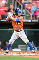 Durham Bulls second baseman Jayson Nix (16) at bat during a game against the Buffalo Bisons on July 10, 2014 at Coca-Cola Field in Buffalo, New  York.  Durham defeated Buffalo 3-2.  (Mike Janes/Four Seam Images)