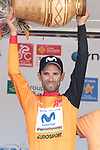 World Champion Alejandro Valverde (ESP) Movistar Team wins the overall general classification at the end of Stage 4 of the Route d'Occitanie 2019, running 154.8km from Gers - Astarac Arros en Gascogne to Clermont-Pouyguillès, France. 23rd June 2019<br /> Picture: Colin Flockton | Cyclefile<br /> All photos usage must carry mandatory copyright credit (© Cyclefile | Colin Flockton)