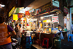 Bangkok's Chinatown at night is alive with street vendors selling everything from music CD's to Duck Soup.